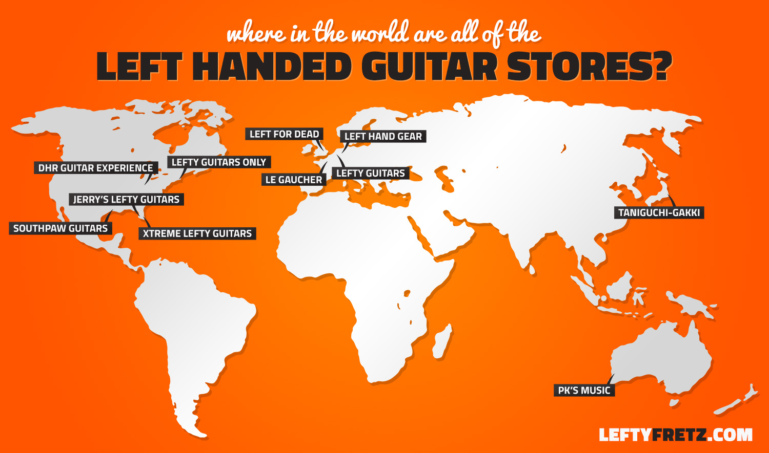 Where Can I Buy A Left Handed Guitar Lefty Guitar Stores