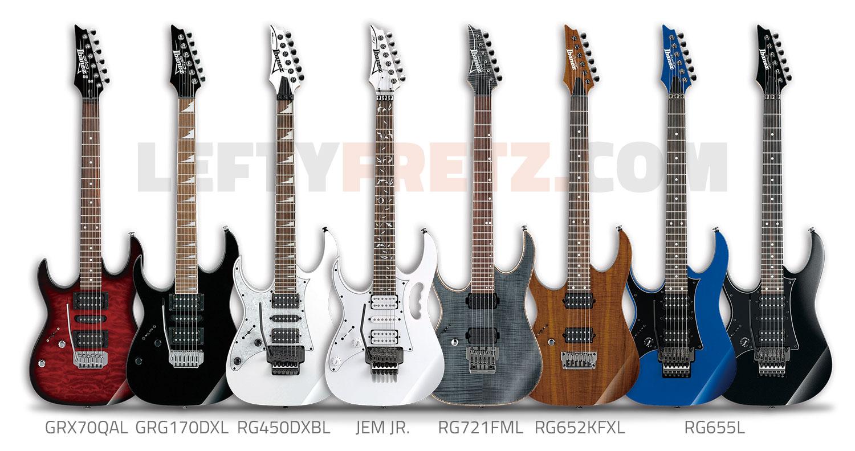 Left Handed Ibanez Guitars Basses 2016 Ultimate Guide