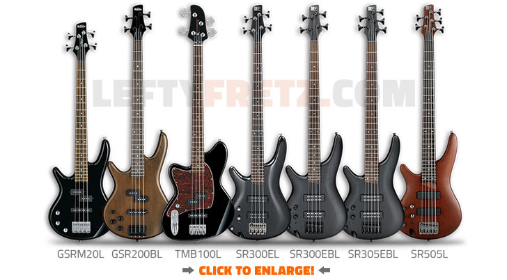 Ibanez Left Handed Bass Guitars 2016