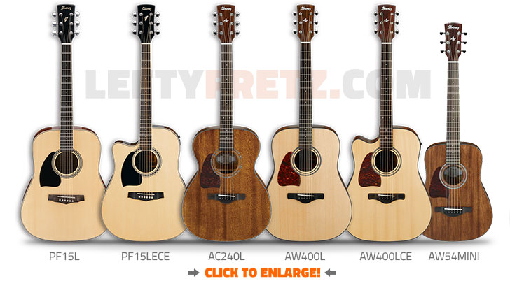 Left Handed Ibanez Acoustic Guitars