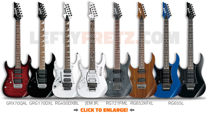 Left Handed Ibanez Electric Guitars 2016