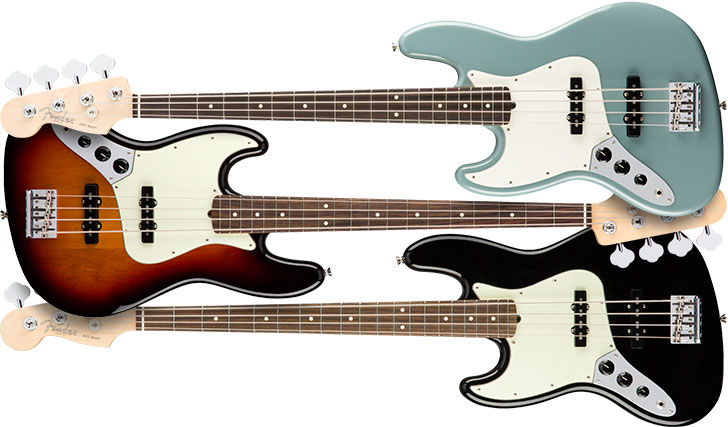 Left Handed Fender American Pro Jazz Bass