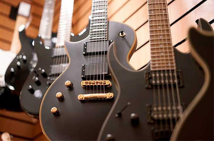 Left Handed Black Guitar