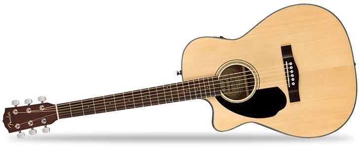 Left Handed Fender CC60SCE Acoustic Guitar