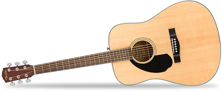 Left Handed Fender CD60S Acoustic Guitar