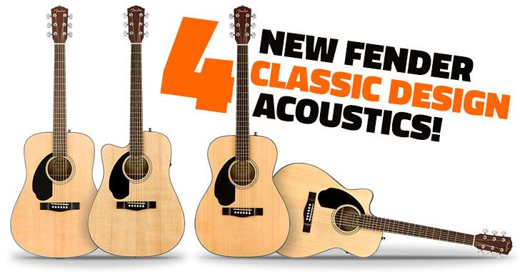 Left Handed Fender Classic Design Acoustic Guitars