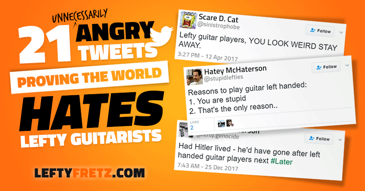 Mean Tweets About Left Handed Guitarists