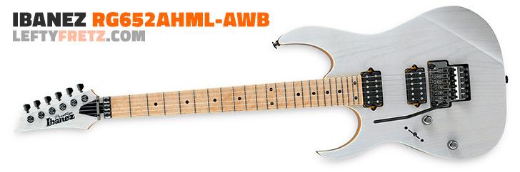 Left Handed Ibanez RG652AHML Prestige White Blonde