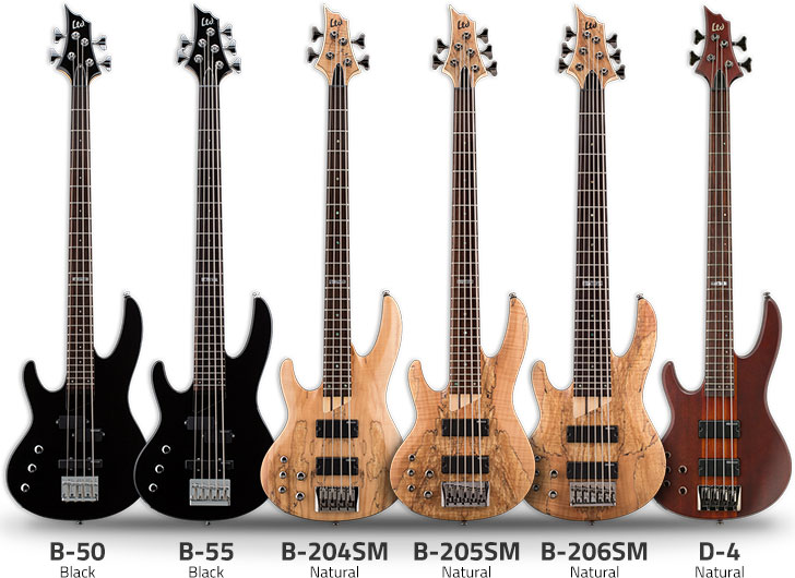 Left Handed ESP Ltd Bass Guitars