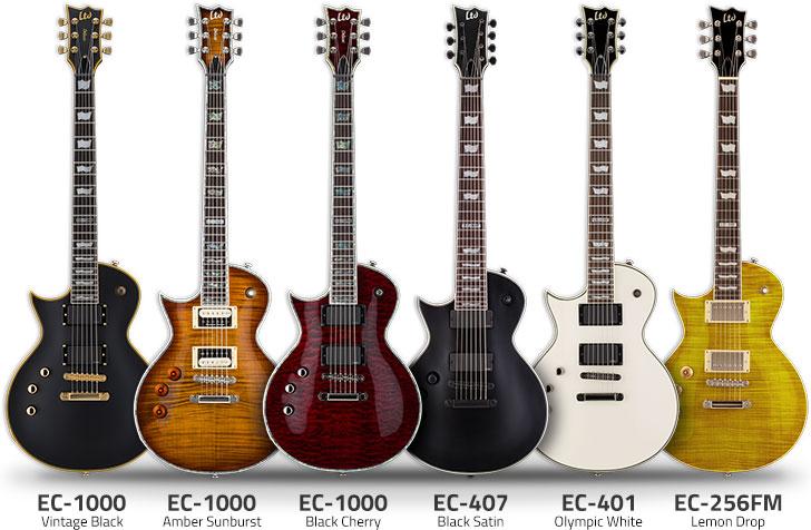 Left Handed ESP Ltd EC Series Guitars