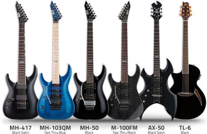 Left Handed ESP Ltd Guitars
