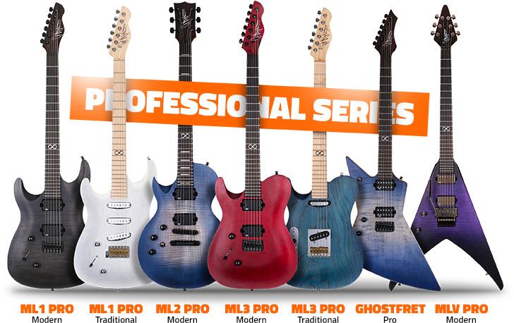Left Handed Chapman Pro Series Guitars