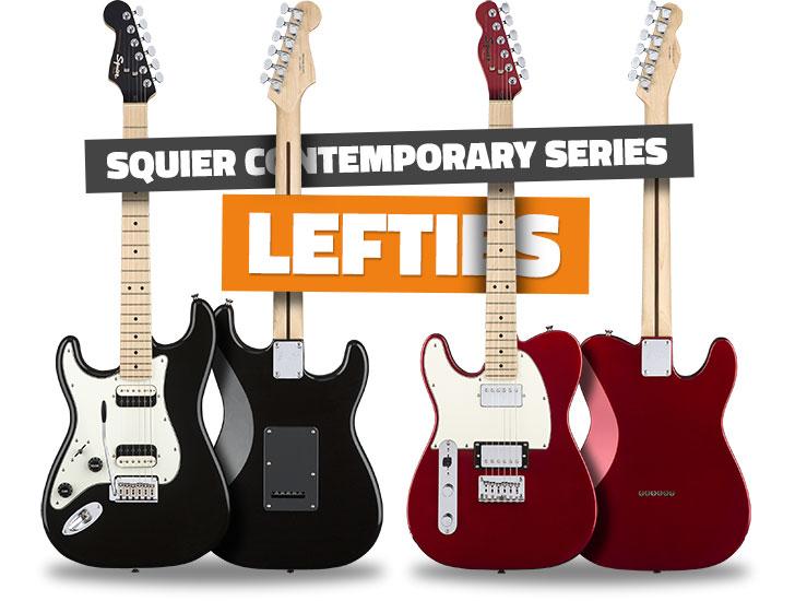 Left Handed Squier Contemporary Guitars 2018