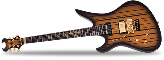 Schecter Left Handed Synyster Gates Custom S Satin Gold Burst