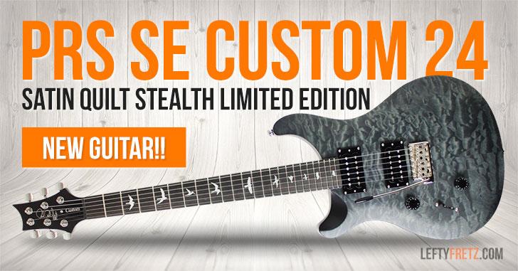 Left Handed PRS SE Custom 24 Stealth Satin Quilt