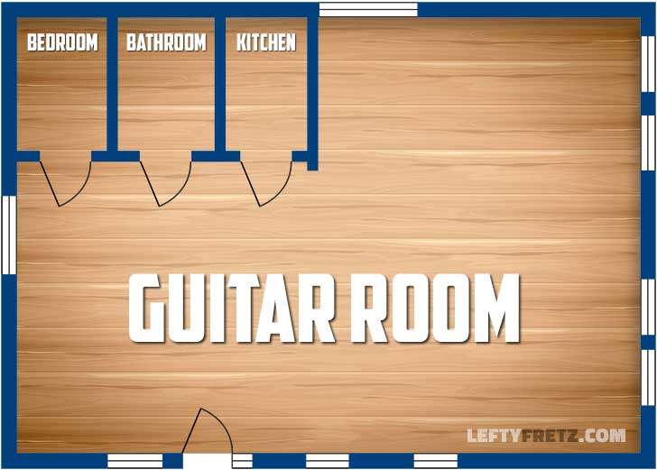 Guitar Room Apartment Floorplan