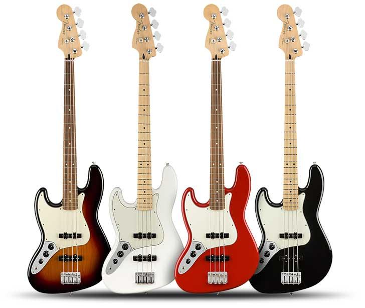 Left Handed Fender Player Jazz Bass