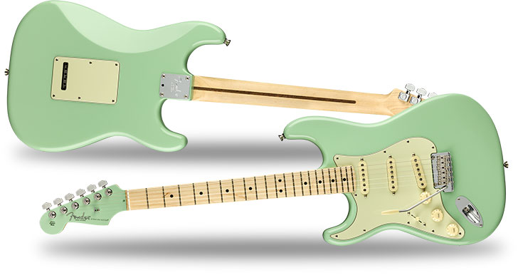 Fender Left Handed American Pro Strat Surf Green