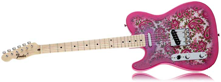 Fender Left Handed Pink Paisley Telecaster