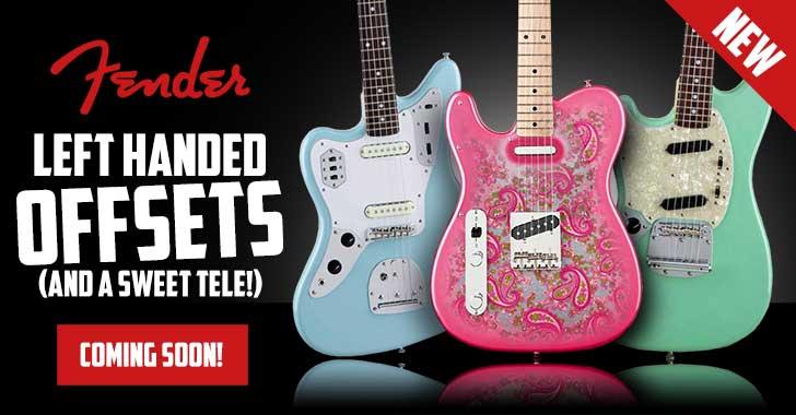 Left Handed Fender Jaguar Jazzmaster Mustang Guitars