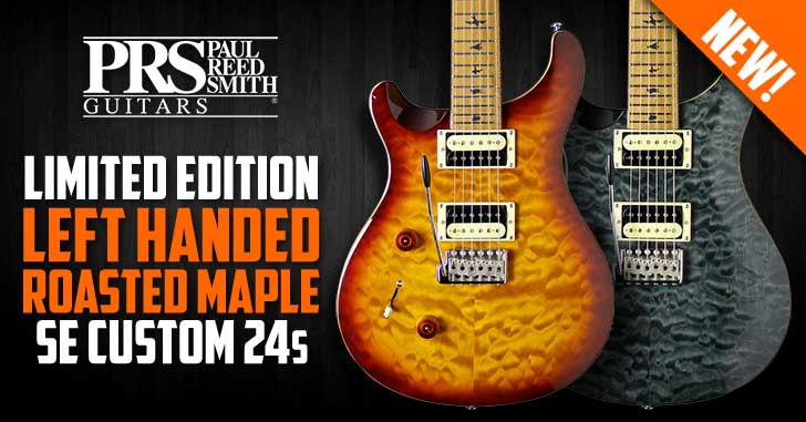 Left Handed PRS SE Custom 24 Roasted Maple