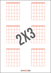 picture relating to Printable Blank Guitar Chord Chart called Blank Guitar Chord Charts - Obtain Print