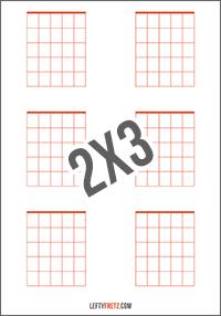 Blank Guitar Chord Chart 6