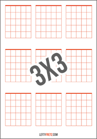 picture relating to Guitar Chord Chart Printable named Blank Guitar Chord Charts - Obtain Print