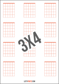 Blank Guitar Chord Chart 12