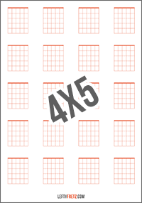 Blank Guitar Chord Chart 20