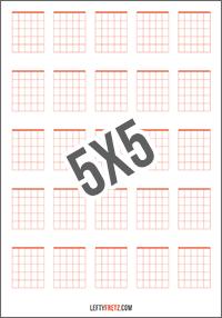Blank Guitar Chord Chart 25