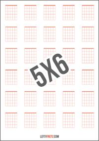 Blank Guitar Chord Chart 30