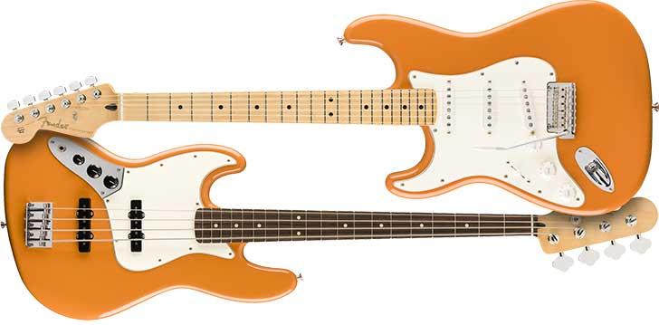 Left Handed Fender Player Strat Capri Orange