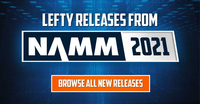 NAMM 2021 Left Handed Guitars