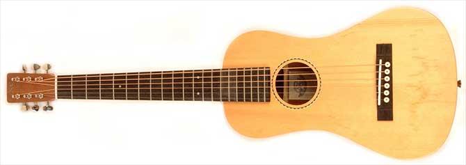Left Handed SX Trav 1 Travel Guitar