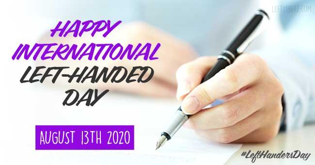 international left handed day 2020