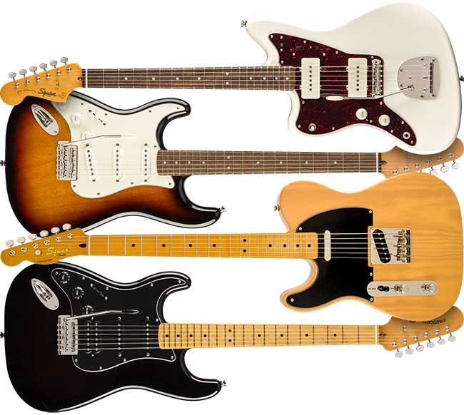 Left Handed Squier Classic Vibe Series