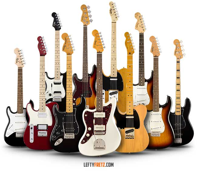 Left Handed Squier Guitar Bass 2020