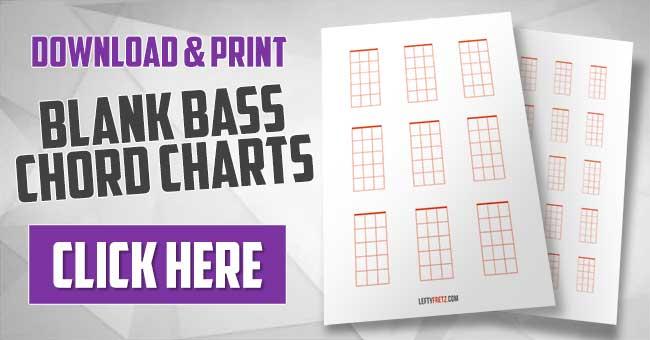 Blank Bass Chord Chart