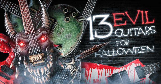 13 Evil Guitars For Halloween