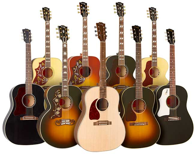 Left Handed Gibson Acoustic Guitars