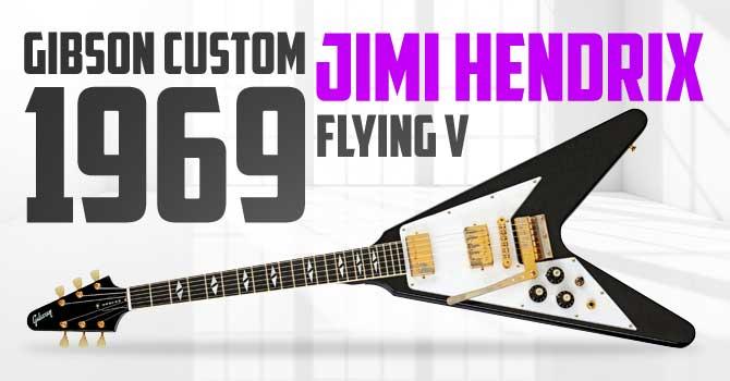 Left Handed Gibson Custom Jimi Hendrix 69 Flying V Guitar