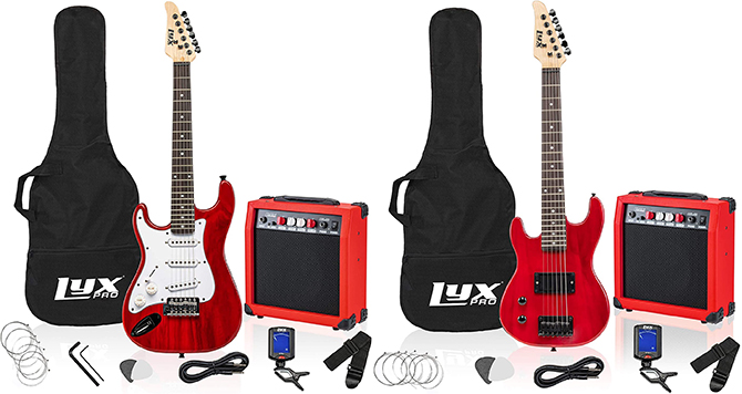 LyxPro Left Handed Kids Electric Guitar Package