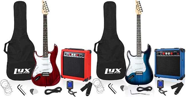 LyxPro Beginner Left Handed Guitar Package
