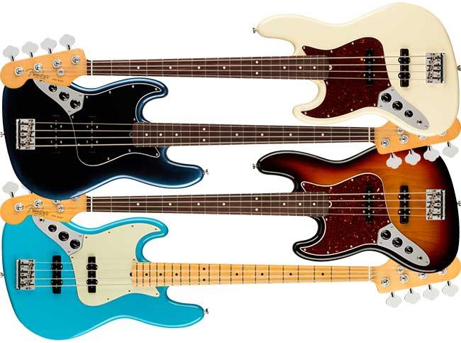 Left Handed Fender American Pro II Jazz Bass