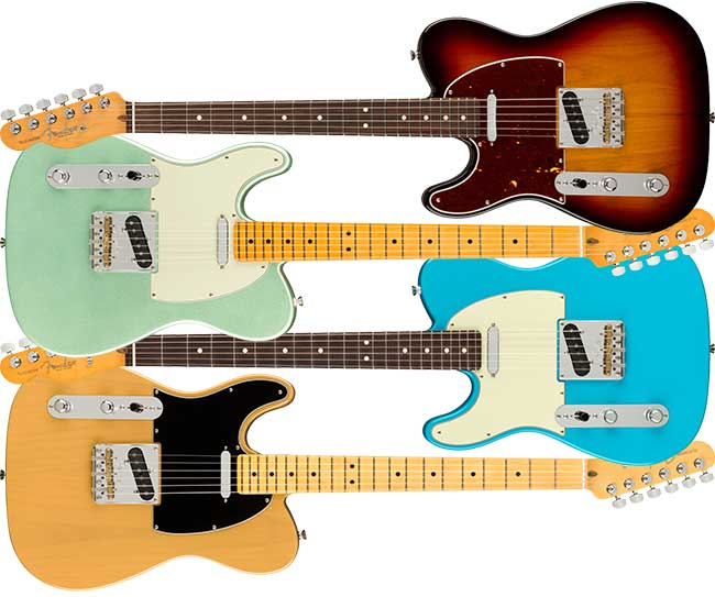 Left Handed Fender American Pro II Telecaster