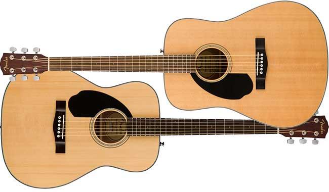 Left Handed Fender CD-60S/CC-60S Acoustics