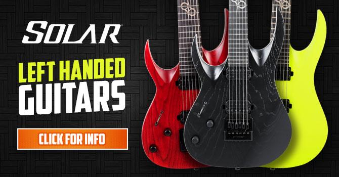 Left Handed Solar Guitars