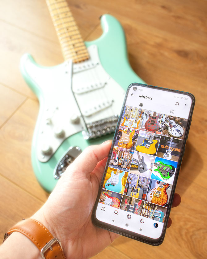 instagram left handed guitar pages to follow