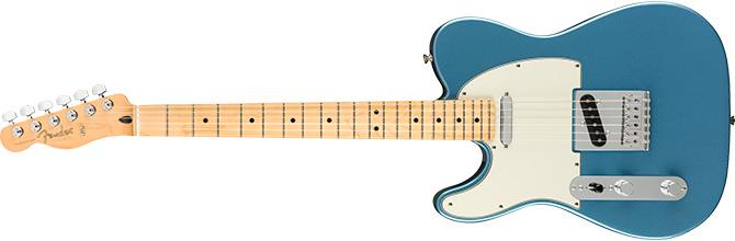 Left Handed Fender Telecaster Lake Placid Blue